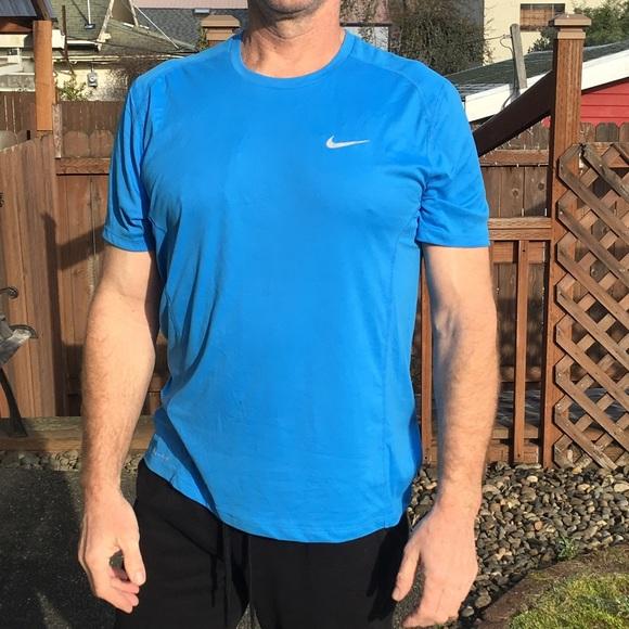 Men's Blue Nike Running Dri Fit Shirt.